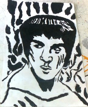 School Assignment: Face-To-Face Project: Bruce Lee by TitaniumFerrous
