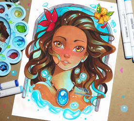 Moana, the favourite of the Sea by larienne