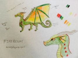 Wings of Fire - Fireblight Reference by Aperture-Cat