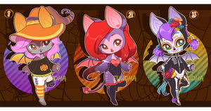 Halloween Bat Adopts [3/3 OPEN] by Fuudha