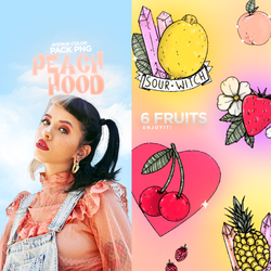 Peach hood / FRUITS PNG by Avenue-color