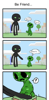 Creeper and Enderman by Coffgirl