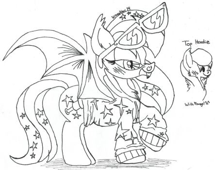 (MLP)Flicker's Hoodie Design Lineart by KrazyKari