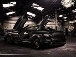 Mercedes Benz SLR Black- rear by RS--Design