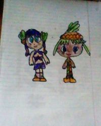 The Pink Pineapple Chibi Girls (Drawing) by magiccheynne02321