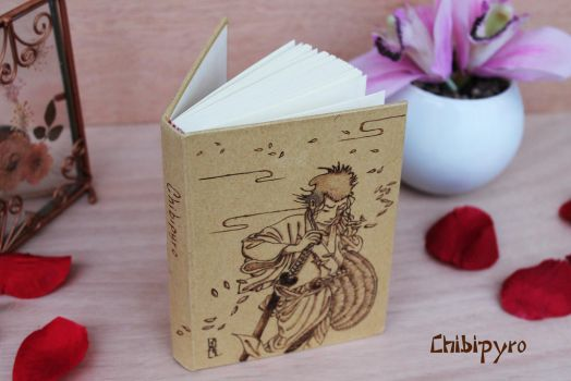 Cardboard notebook samurai by ChibiPyro