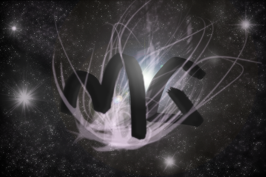 Initials in space by acidplanet6