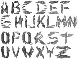 Transformed Mentality Projection Font 3D Alphabet by TMProjection