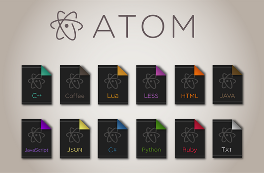 Atom File Icons by BStevenson