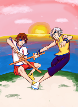 Sora vs Riku: From Sunrise to Sunset by Fonix187