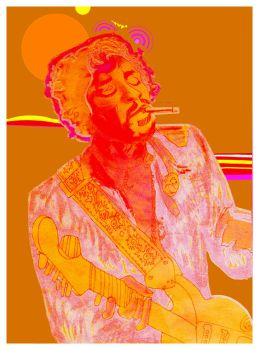 Jimi Hendrix by space-in-mind