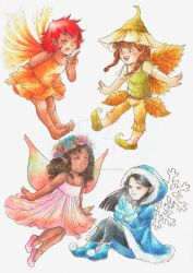 Season Fairies by LariBallaminut