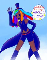 Welcome to my magic show!! (gloomverse redraw) by astraltoon