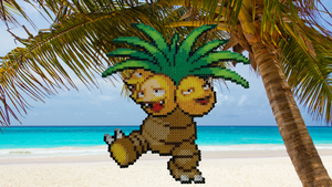 Pokemon #19 - Exeggutor (background) by MagicPearls