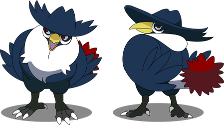 Vector trace Honchkrow by IvynaJSpyder