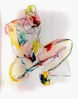 Lady sitting by LaurieLefebvre