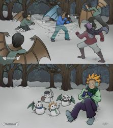 Sombulus Snowball Fight Wallpapers! by TheDelphina