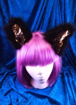 I'm all ears!  Black and gold by cupcakedoll