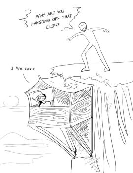 Cliff Hanger by Warlord-of-Noodles