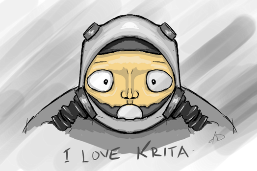 Doodle with Krita. I love Krita by al-din