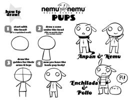How to Draw the Pups by nemu-nemu