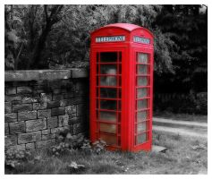 Old English phone box by mzkate