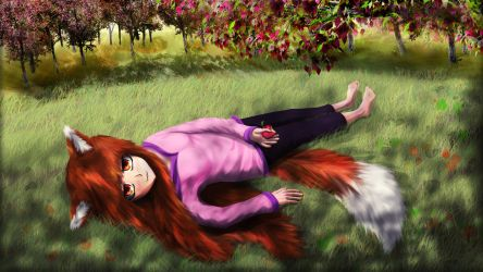Holo the Wise Wolf - Spice and Wolf by Krakhat