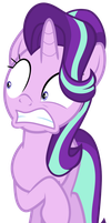 Starlight Glimmer repulsed by Fluttershy by Tardifice