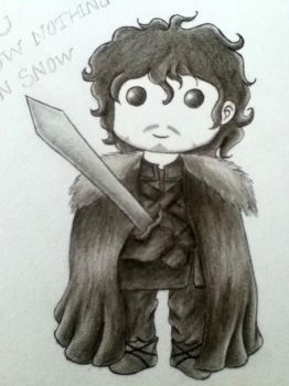 Jon Snow Chibi by Racheii