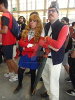 Toradora and Vegeta GT cosplay by DrPingas
