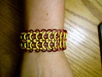 Streachy Chainmaille Bracelet by the-un4given-1