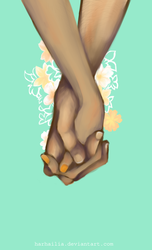 'Cause the spaces between my fingers by harhailia