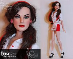 Rockabilly Ruby OOAK Doll -OUAT by lulemee