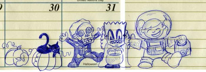 Halloween Doodle by dashersher