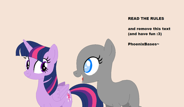 Base: Twilight Sparkle x OC by KIngBases