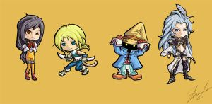 FFIX Chibis by Bemused-Dreamer