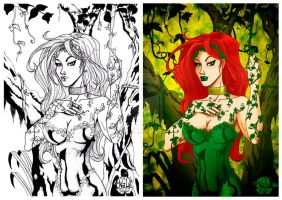 Poison Ivy colored version by tenshiflyers