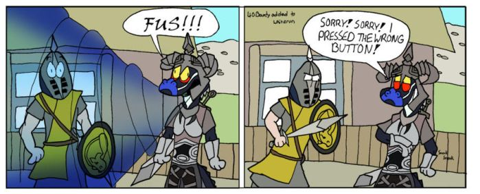 Skyrim: Pressed the Wrong Button by GatorArt27