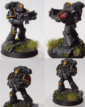 Red Scorpions Tactical Marine by TheEternalRanger