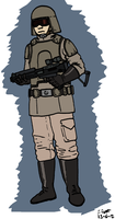 Star Wars - Imperial Army Trooper by Konquistador