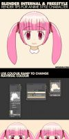 Blender and Freestyle Tips For Anime Character by mclelun