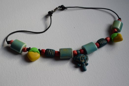 Kemetic necklace with Hathor amulet by PoetaImmortalis