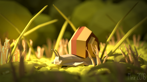 tiny snail [lowpoly] by Mezaka