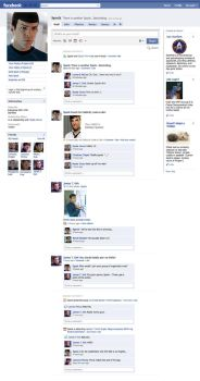 Spock's Facebook Page by PhantomKat813