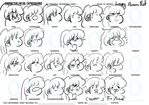 Expressions ref! [unfinished] by Leepy-Leep