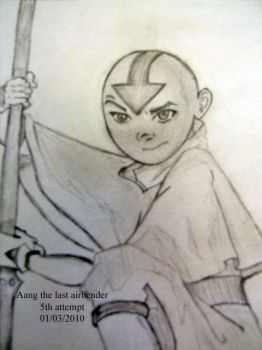 aang - the last airbender 6thb by HawkTnz