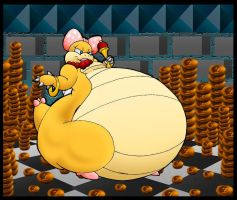 Fat Wendy Loves Her Pennies. by Virus-20