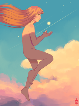 She's got the world at the palm of her hand III by GusDraws