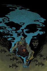 Abe Sapien One shot cover by Devilpig
