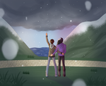 hey, it's snowing! [ vld    Day 2 - Shance ] by oh-no-Castiel
